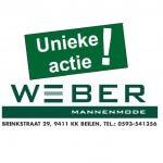 Weber Mannenmode unieke actie